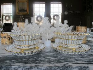 Kevin presented me with these amazing Paris porcelain compote dishes from 19th-century.  He found them at David Stypmann Antiques in New York City.