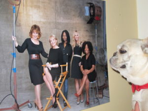 Sharkey was mesmerized by this photo of some of the ladies of The View.