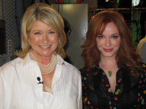 Here I am with Mad Men star Christina Hendricks.