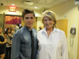 Here I am with Zac Efron who appeared on Today to promote his new movie, Charlie St. Cloud.