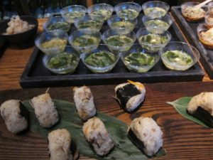 Onigiri (rice balls and the best miso soup