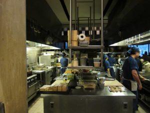 En's kitchen preparing for the event
