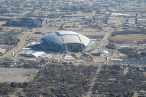 I took this photo of Cowboys Stadium as our plane approached the airport in Arlington, Texas.
