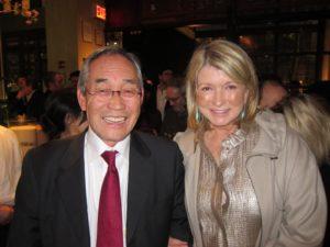 Posing with Motoatsu Sakurai - president of Japan Society
