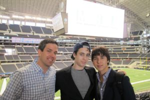 Chad, Sam Koppelman, and Harrison Fritz - my guests for the day