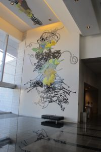 Located in Main Concourse, NW Entry is Matthew Ritchie - Line Of Play (2009).