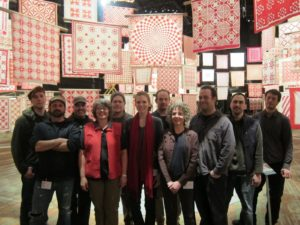 This is the proud team that hung the 650+ quilts.