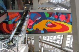 Located in SW Monumental Staircase is Franz Ackermann - Coming Home (Meet Me) at the waterfall - 2009