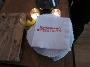 We  had napkins printed especially for this event.