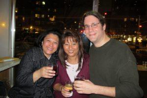 Jocelyn Santos, Managing Editor for Radio, Magaret Lee, TV Distribution Production Manager, and  Greg Jannacone, TV Editor