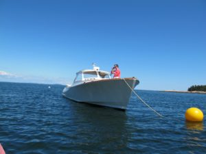 Over the years, we have used this boat to go whale watching, looking for puffins, exploring, antiquing in Blue Hill, and picnicking on the neighboring islands off the coast of Mt. Desert Island.