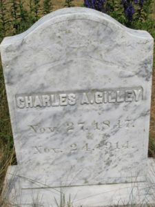 The Gilley burial ground - Charles A. Gilley died at  67-years of age.
