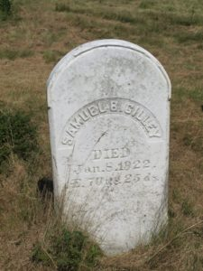 Samuel B. Gilley died in 1922 at 70-years and 25-days of age.