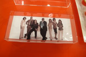 You can also make these serving trays by lining the bottom of an acrylic tray with an enlarged snapshot cut to fit.