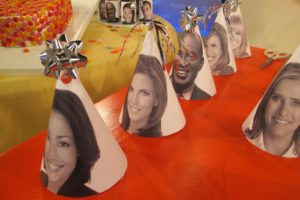 For this segment, we printed photos of all the Today Show personalities.