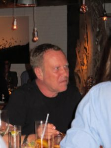 Sitting at an adjacent table was fashion designer Michael Kors.