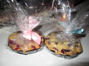 Alexis also baked little raspberry and blueberry tarts with a cream cheese crust.  So yummy!