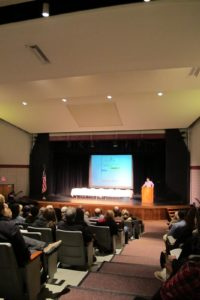 Approximately 700 people attended Environmental Action Day held at fox Lane High School in Bedford, NY.