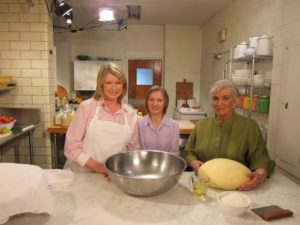 Here I am with Elizabeth Gardasz and Lubow Wolynetz in the kitchen of the Saint Basil Seminary with the beautiful paska dough.