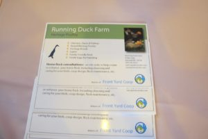 Running Duck Farm offers many varieties of heritage breed chickens, ducks, and turkeys