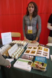 Running Duck Farm's, Clara Zander - Speaker/Panalist - was offering gorgeous fresh eggs.