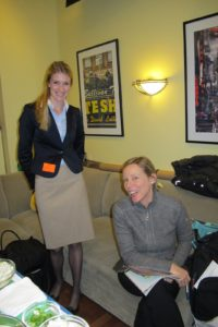 Melany Lynch - my executive assistant at TV and Jocelyn Worrall - set stylist - enjoying the show backstage