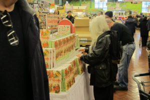 Guests were instructed to purchase their books before getting in line.