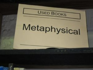 A large metaphysical section to help answer questions such as, 'What is there?' and 'What is it like?'