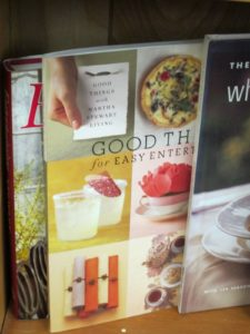 Or Good Things for Easy Entertaining from 2003?  Entertaining, my very first book from 1982, is behind it.