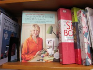 Last year's Encyclopedia of Sewing and Fabric Crafts was prominently displayed with other books about sewing.