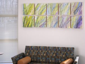 A private family room inside the ER - Families can wait here quietly while loved ones are being treated.  Through the windows is a view of the serenity garden.