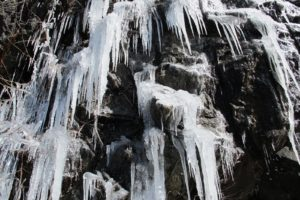 A cascade of ice
