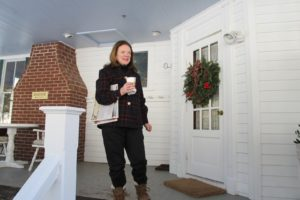 My friend, Kathy Sloane, on the porch of Beaverkill Valley Inn, which was built 1893 as a lodge for anglers. http://www.beaverkillvalleyinn.com/