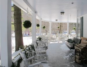 I would love to come back in warmer weather to fish for trout and to rock on this wrap-around porch.
