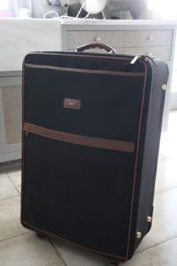 My large suitcase all neatly packed and ready to go
