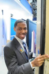 Very dapper Jarred Hill - a NBC Page - escorted me onto the set.