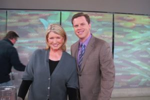 Here I am with Willie Geist, who was filling in for Matt Lauer.