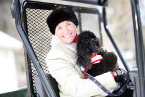 Susan Magrino and her dog, Churchill. Photo credit:  Raymond Haddad http://www.flickr.com/photos/raymondhaddad/