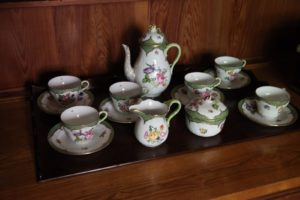 For example, this is her beautiful Limoges tea set.