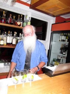 """Mark """"Duffy"""" Dyer presides over the bar and is the magic behind Havana's legendary Mojitos.  He also chooses the fabulous music for the restaurant."""