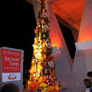 Another tower of chocolate by Jacques Torres of Jacques Torres Chocolate, New York