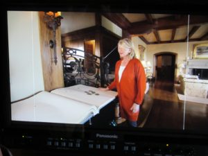 Here I am on the monitor explaining about Skyland's guest book.