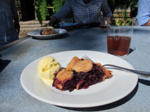 We made blueberry pies for the shoot using wild Maine blueberries.