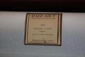 When player pianos were very popular, many pianists of note, in classical and popular fields, were called on to make rolls.  George Copeland, a master of Debussy, actually played Le Clair de Lune for this roll.