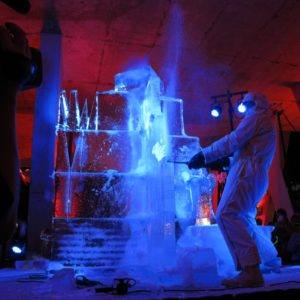 Extreme Ice Sculptors put on an amazing display.