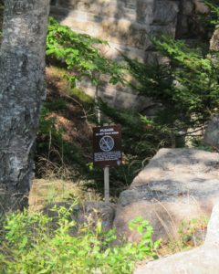 Unfortunately, this area has been damaged by foot traffic and the National Park Service is asking people to remain on paths and roads so that the damage may be repaired.