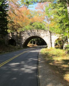 Leaving the park on our way back to Seal Harbor, we passed under another majestic stone bridge.