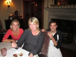 Sarah, me, and Thomas - all the desserts were great!
