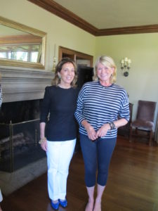 Posing with Sydie Lansing - art collector and mother of Carolina's son-in-law