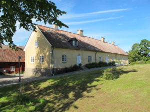 A visit to Gripsholm Castle commences with a walk near the exterior farm buildings.